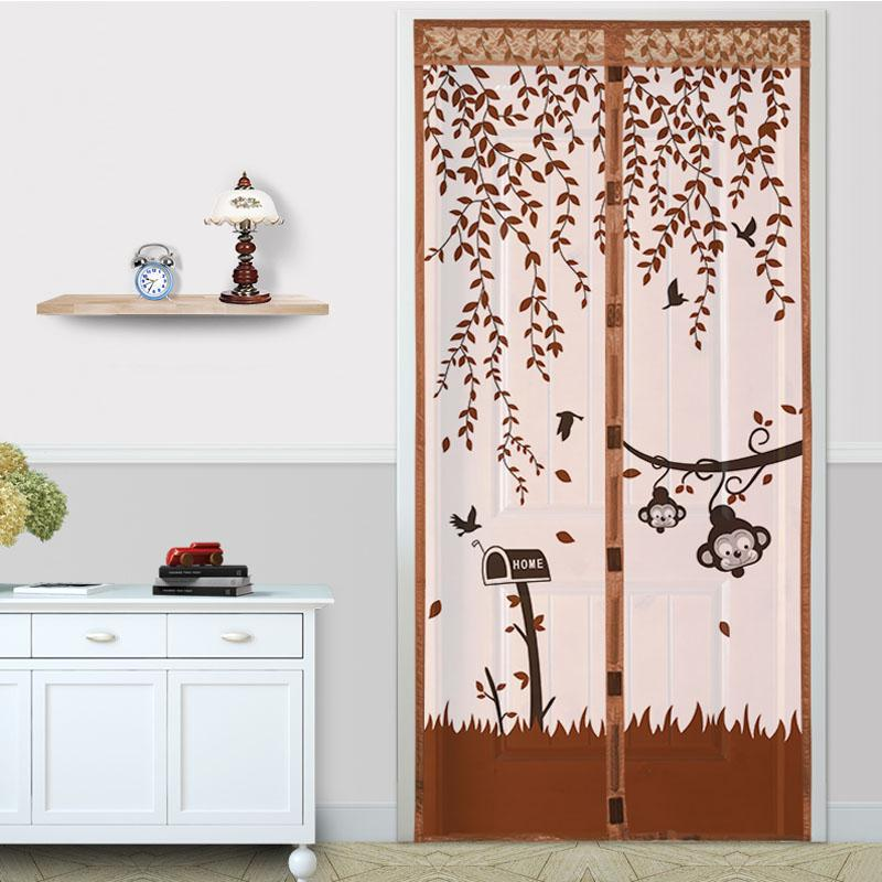 home magnetic curtains mosquito net on door window mesh with magnets insect screen