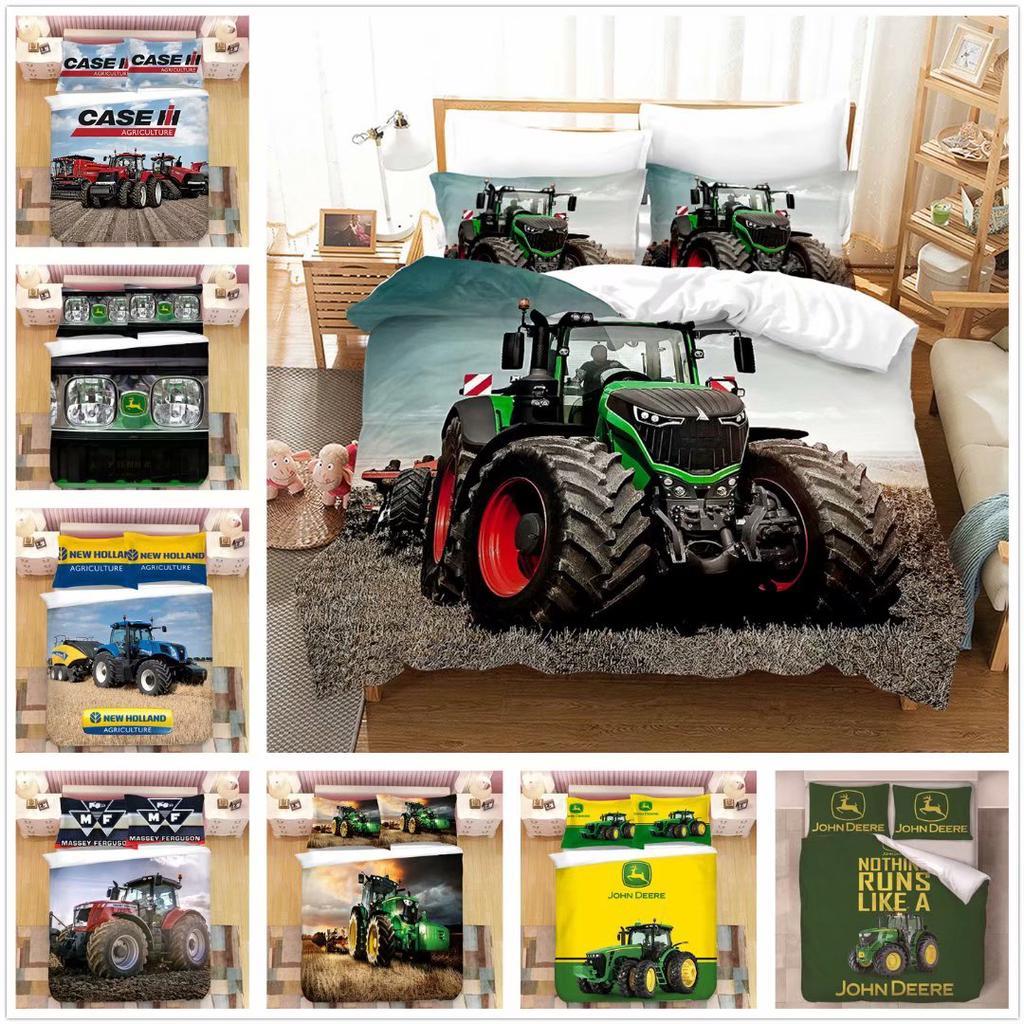 john deere tractor bedding set 3d printed agricultural tractor pattern duvet cover creative bedding set no comforter