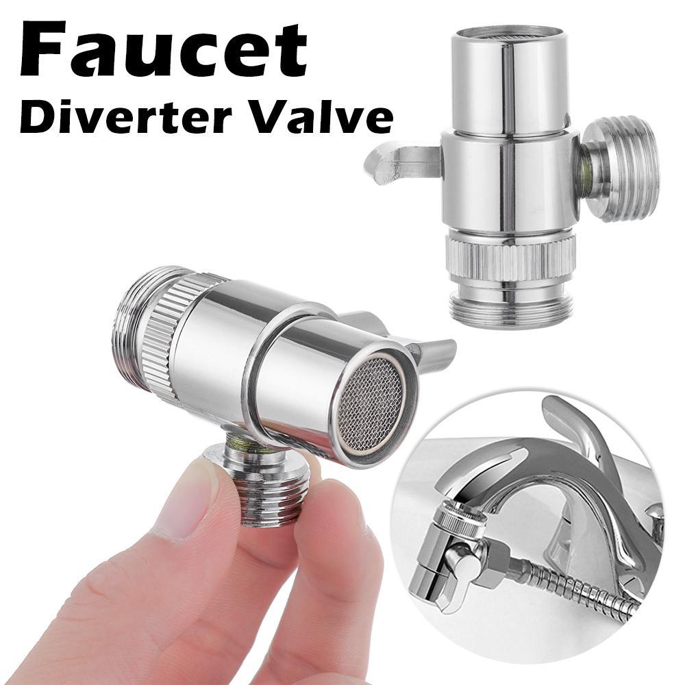 supplies 3 way brass faucet adapter kitchen sink splitter diverter valve water tap connector