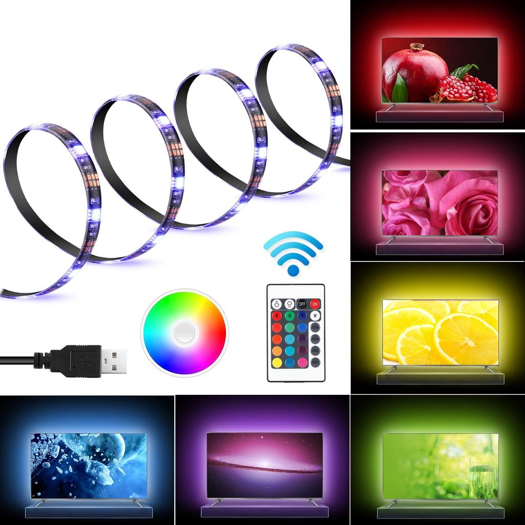 led tv backlight bias lighting kit for hdtv remote usb rgb multi color light strip 3 strips in 1 set buy at a low prices on joom e commerce platform