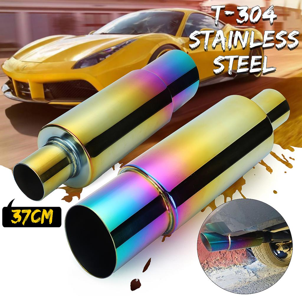 universal stainless racing car exhaust muffler rear tail pipe colorful straight 304 stainless steel