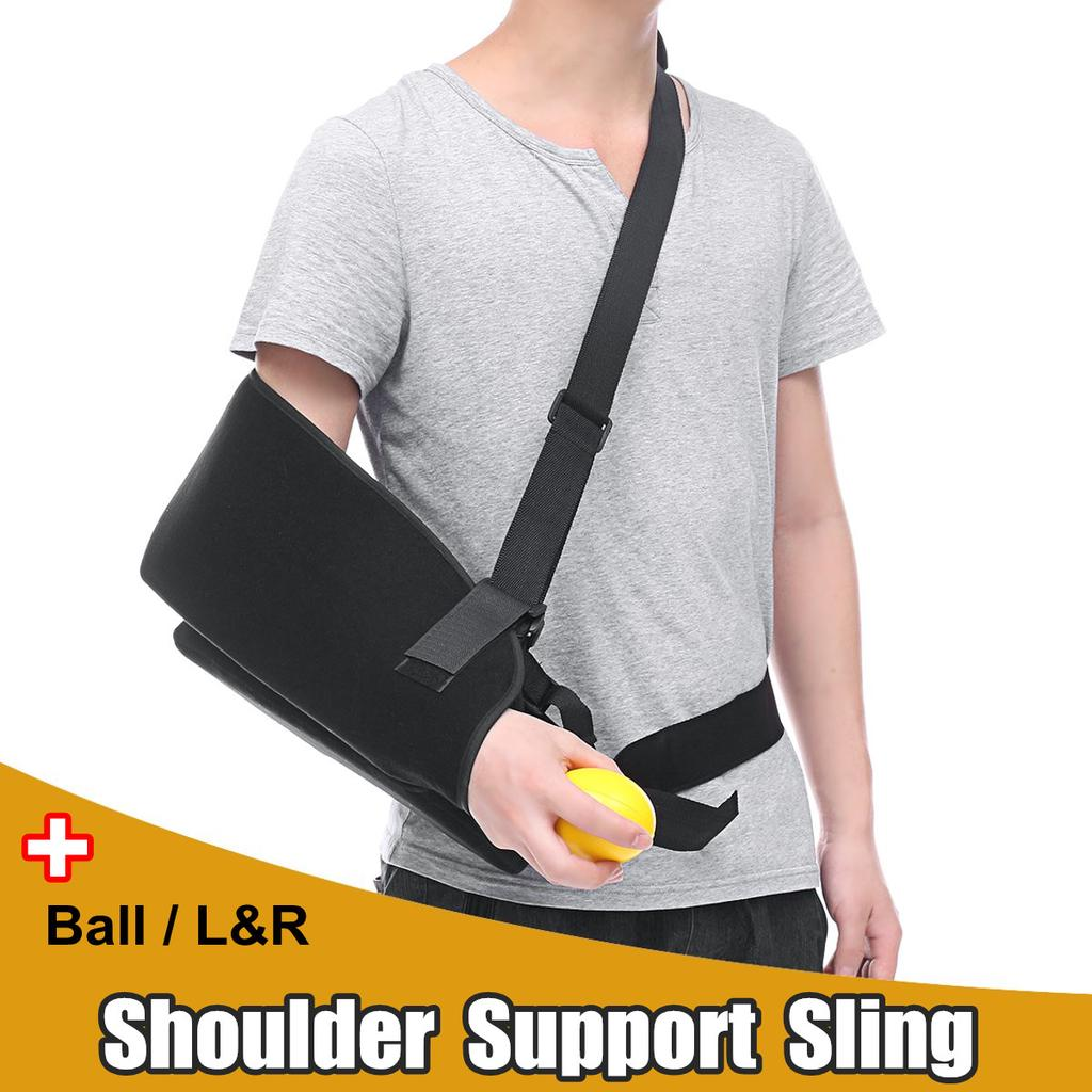 shoulder support broken arm sling brace abduction pillow pain relief with rehabilitation ball