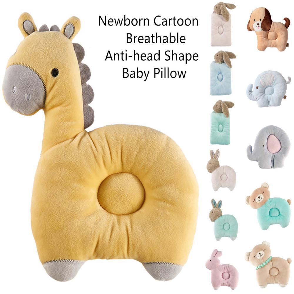 ts newborn cartoon breathable anti head shape baby pillow