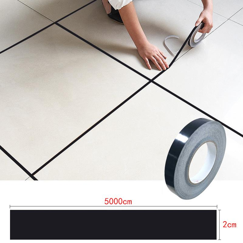 ceramic tile mildewproof gap tape tile gap sealing tape waterproof foil strip silver golden rims
