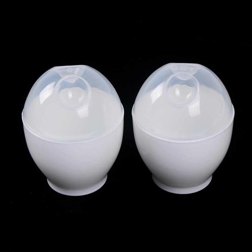 2pcs microwave cooker egg cooking tool cup