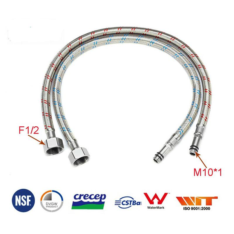 steel braided hose kitchen faucet hose flexible plumbing hose braided rubber hose connector
