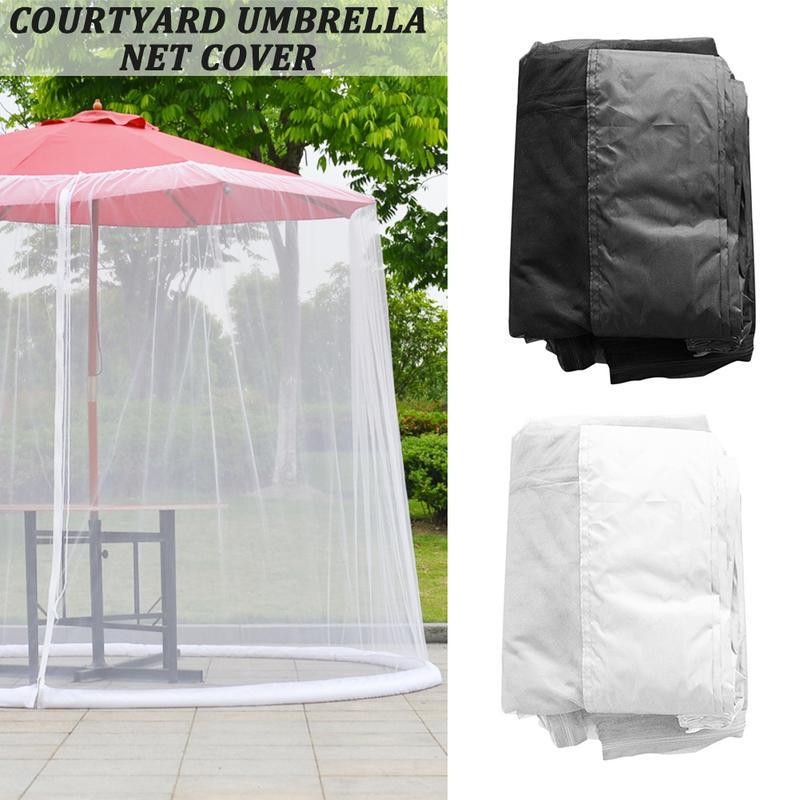 umbrella cover mosquito netting screen for patio table umbrella garden deck furniture zipp buy at a low prices on joom e commerce platform