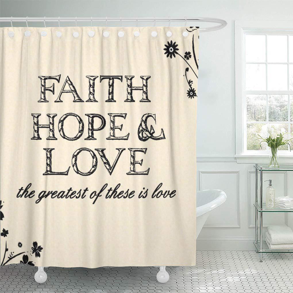 greatest faith hope love these inspirational spiritual biblical wordart shower curtain 60x72inch 150x180cm