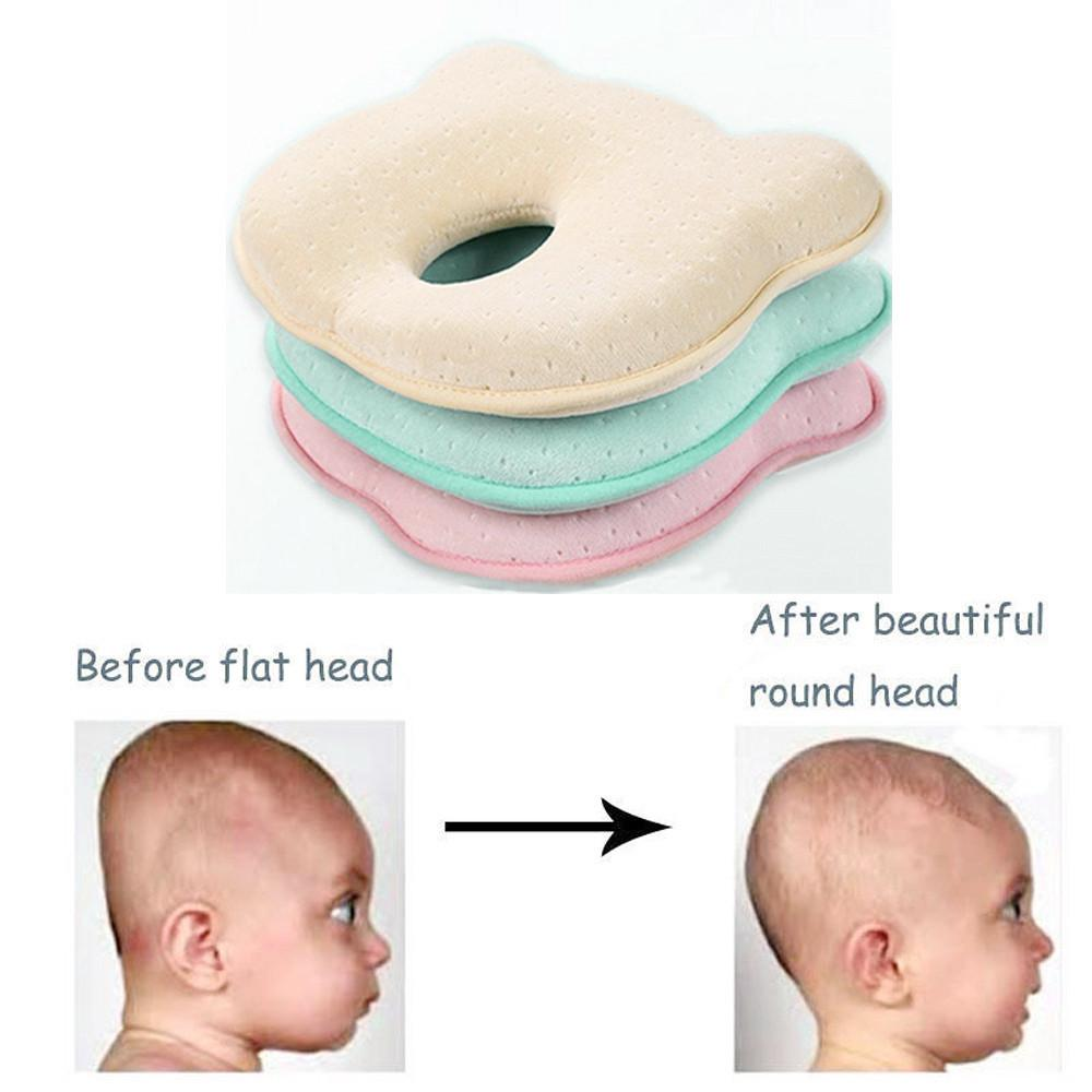 infant baby pillow soft prevent flat head foam memory cushion sleeping support