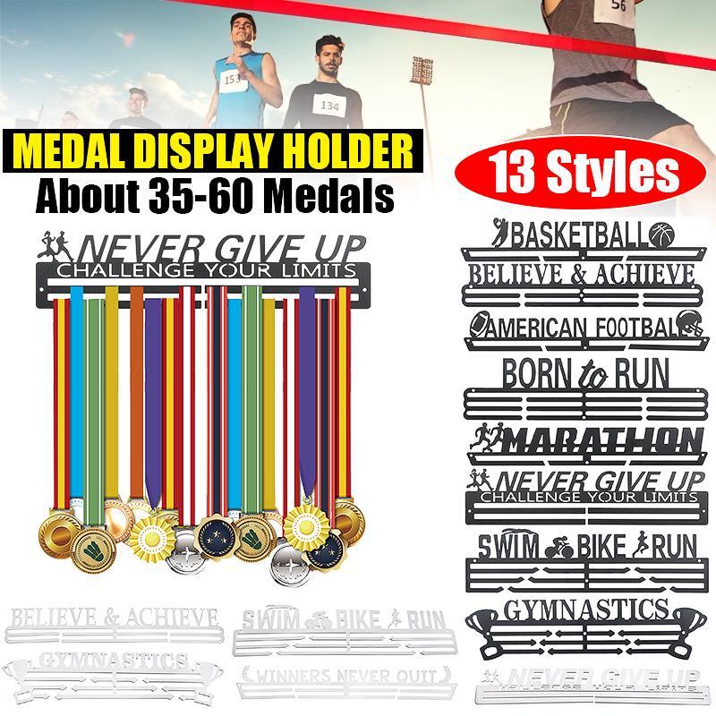 8 styles inspirational medal hanger holder sport display rack stainless steel shelf for 35 60 medal