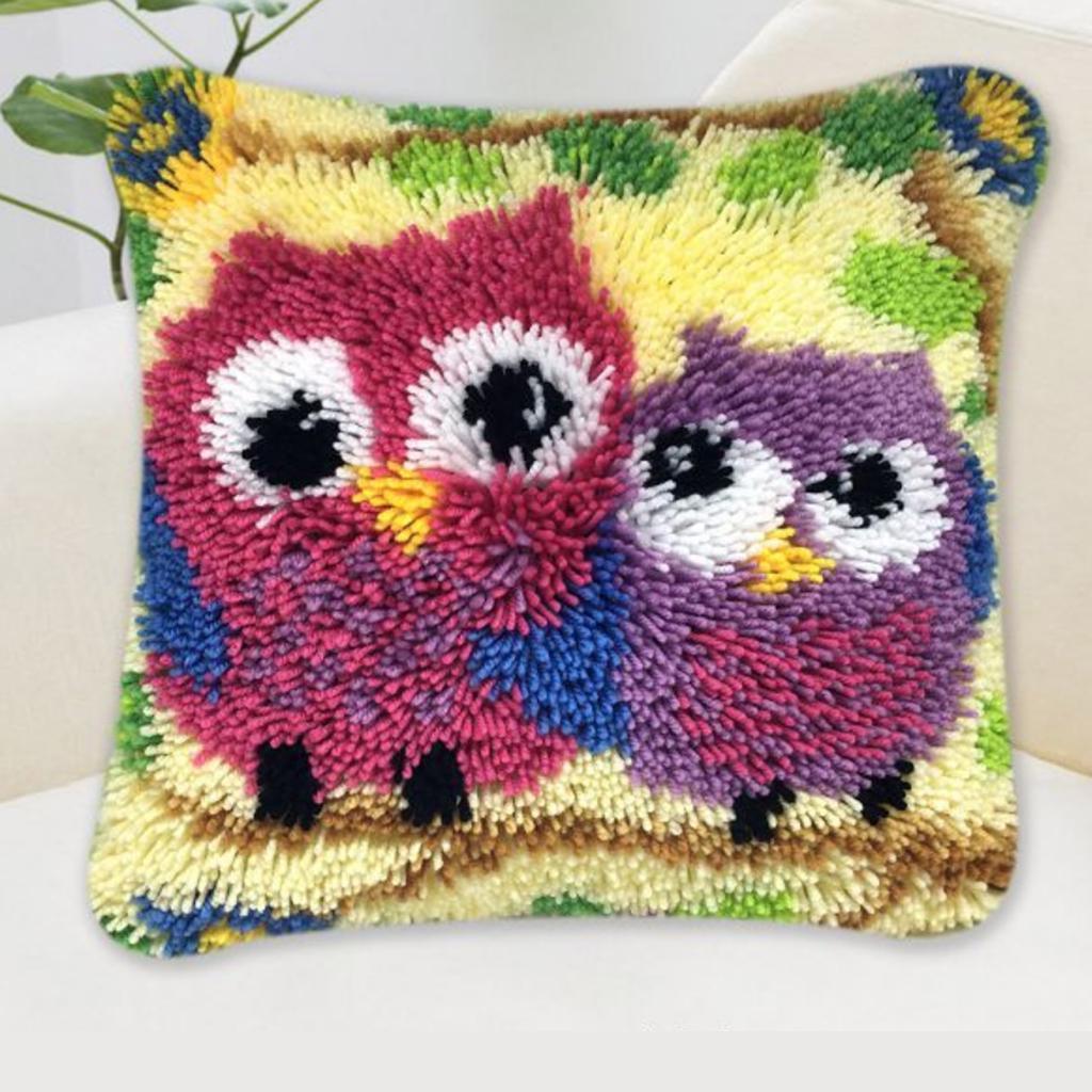 animal latch hook kits pillow cushion making package for women men zd674