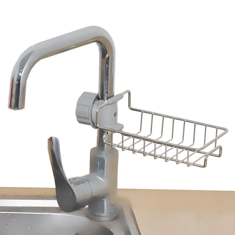 adjustable faucet drainage shelf stainless steel kitchen sundries storage rack for bathroom shelf buy at a low prices on joom e commerce platform