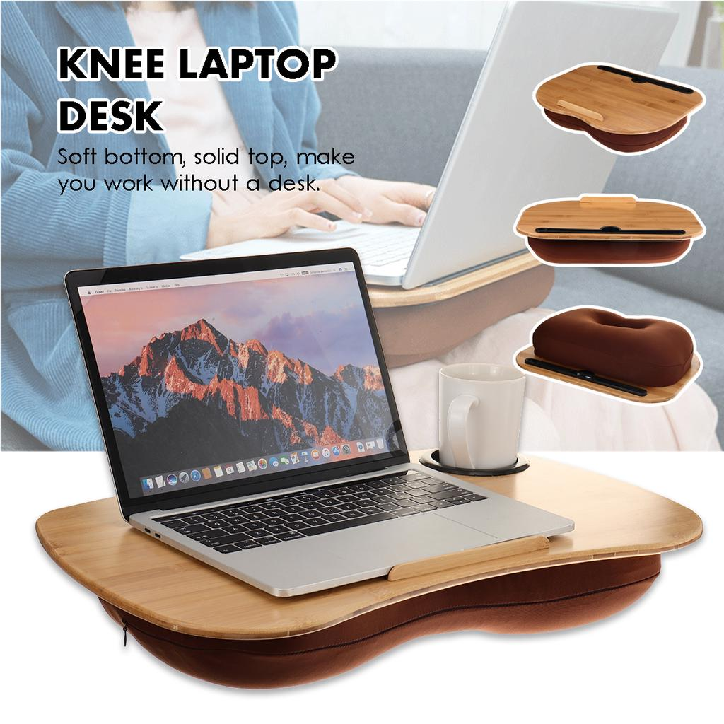 laptop stand pillow office desk pc tablet desk bed cushion knee lap handy computer reading writing table tablet tray cup holder