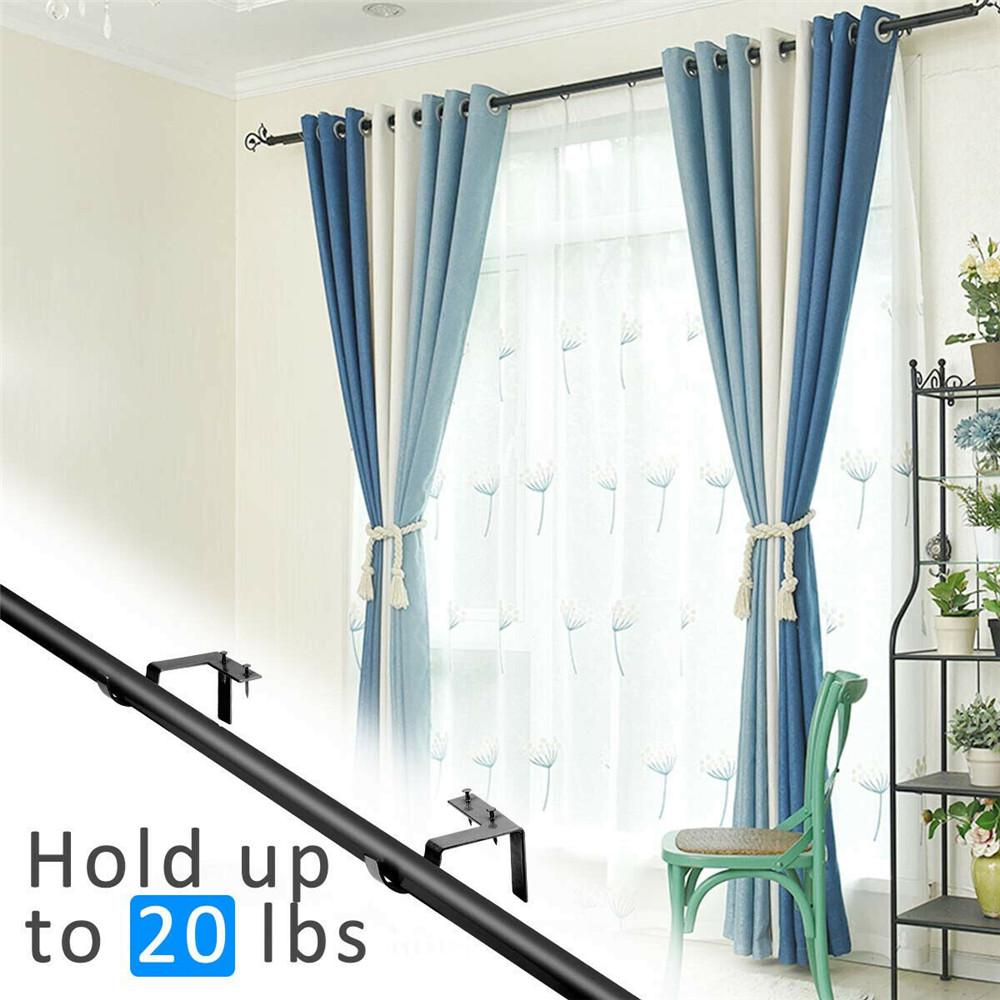2pcs single hang curtain rod holders bracket into window frame curtain rod bracket buy at a low prices on joom e commerce platform