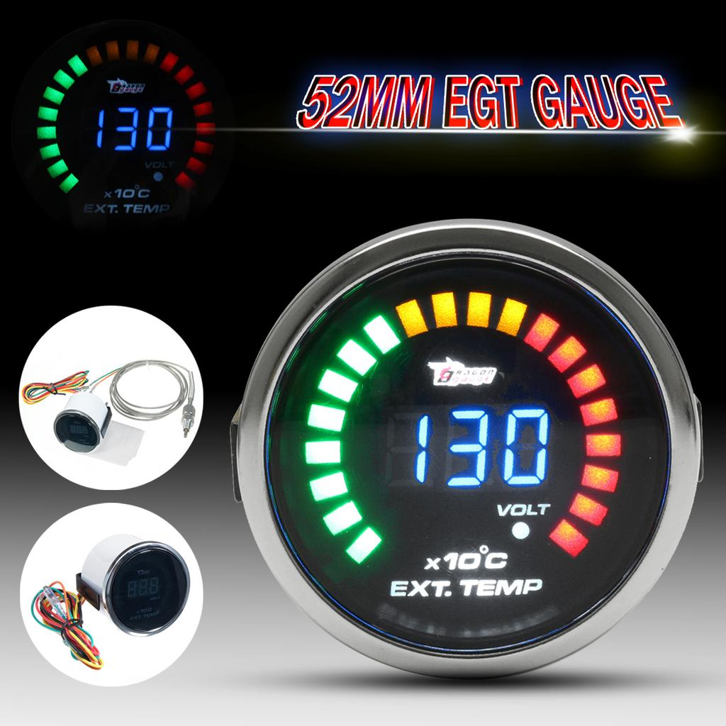 2 52mm led digital auto car egt exhaust gas temp temperature gauge meter sensor