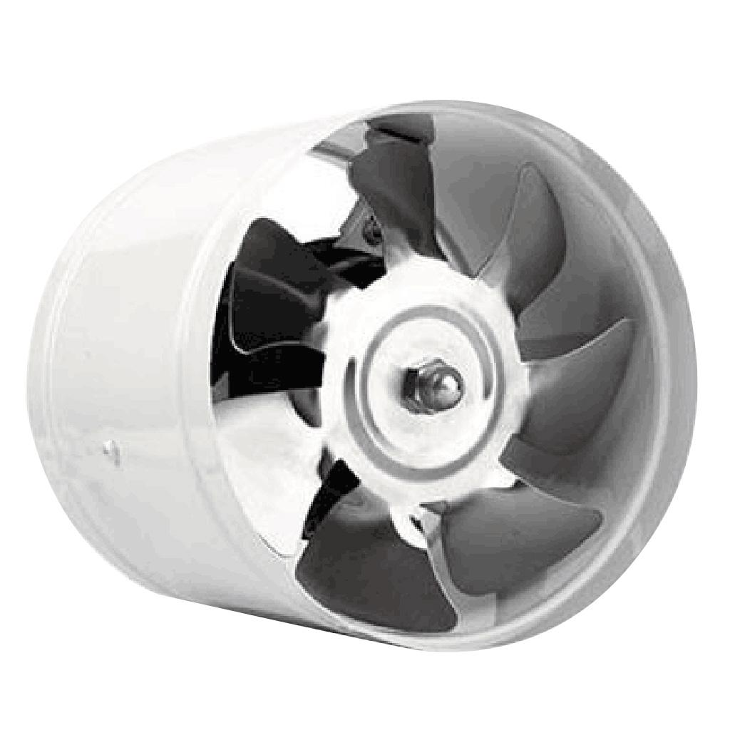 6 inch 40w inline duct booster fan ventilation exhaust air blower black