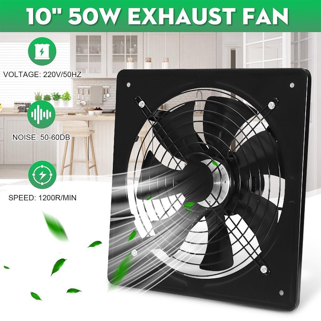 12 inch 50w window ventilated metal exhaust fan high speed pump for kitchen industrial area bathroom