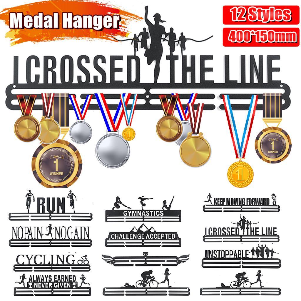 stainless steel medal hanger holder display rack application for race medal display holder hanger