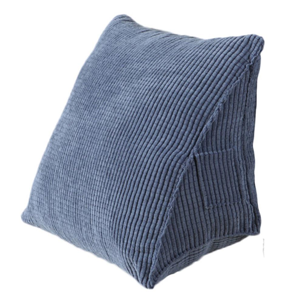 soft reading pillow triangle back cushion pillow sofa bed office chair rest pillow