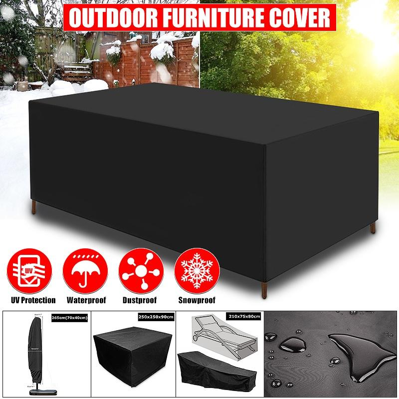 winter snowproof waterproof furniture table cover garden patio beach protector rain snow dust covers