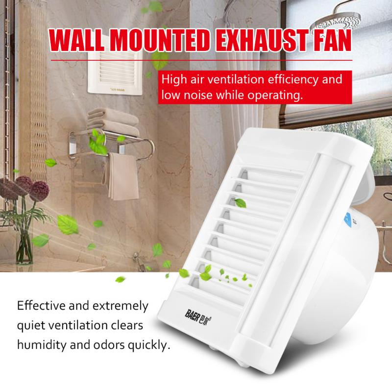 15w 220v wall mounted exhaust fan low noise home bathroom kitchen garage air vent ventilation
