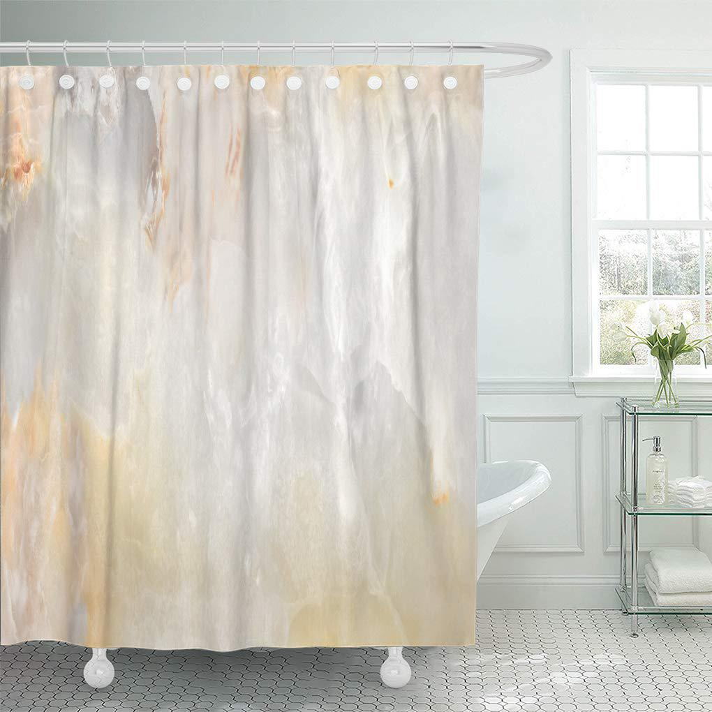 light natural marble shower curtain 60x72inch 150x180cm