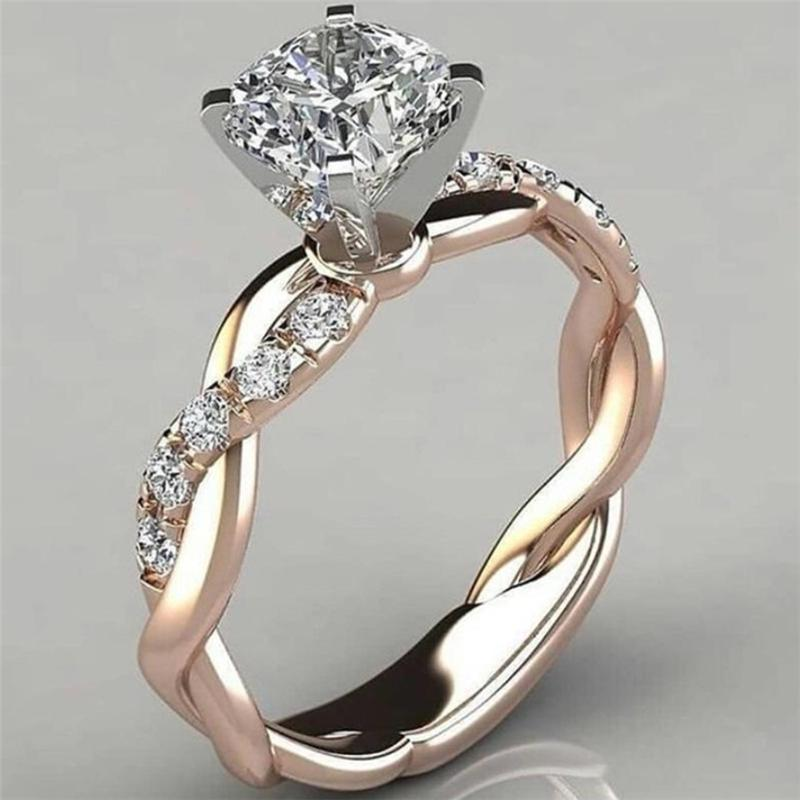 Buy Girlfriend Wife Valentine S Gifts Silver Ring Bridal Zircon Diamond Elegant Rings At Affordable Prices Free Shipping Real Reviews With Photos Joom