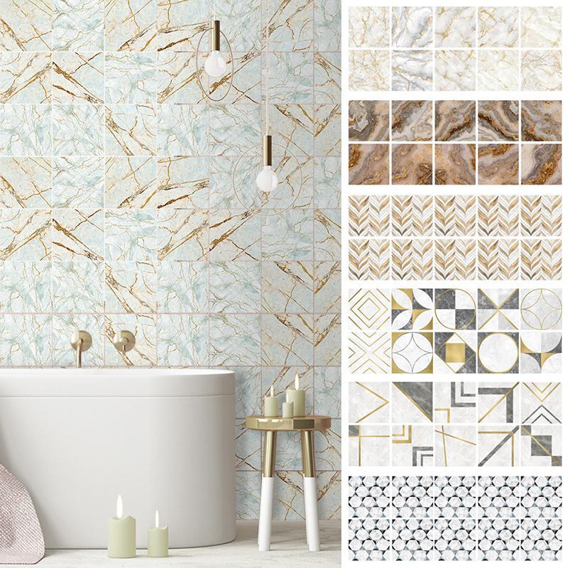 10 pcs home decor wallpaper marble tile sticker wall art waterproof diy bathroom kitchen 15 20cm buy at a low prices on joom e commerce platform