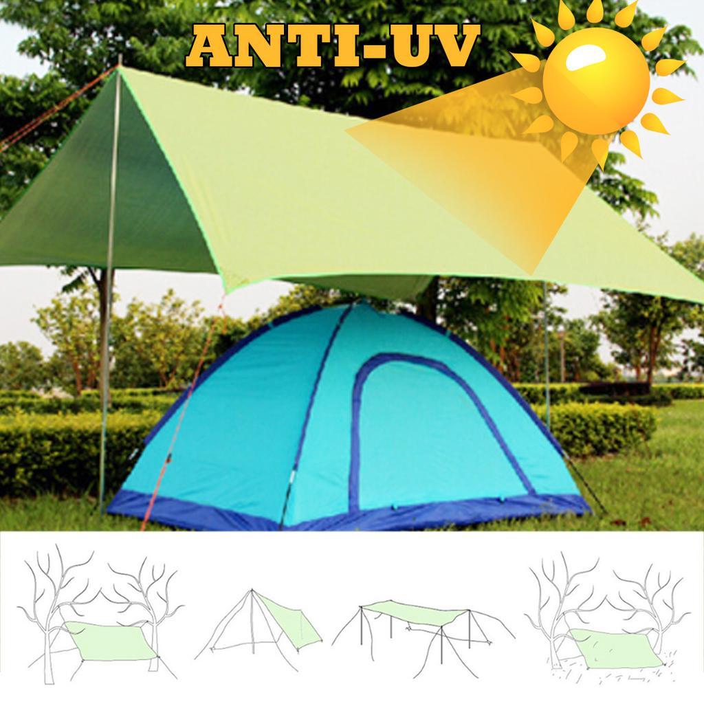 210x150cm awning waterproof tarp tent shade ultralight garden canopy sunshade outdoor camping hammock rain fly beach sun shelter