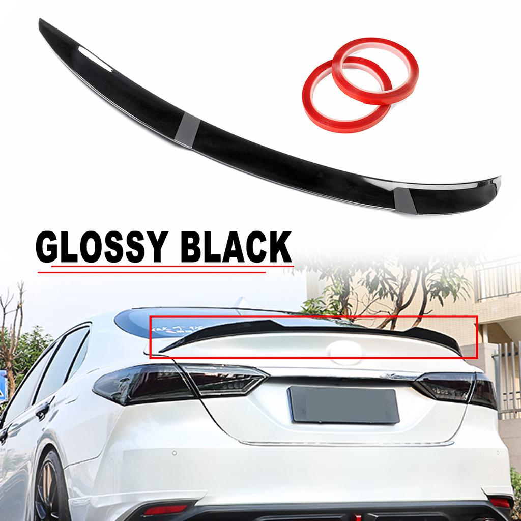 car glossy black m4 style trunk lid spoiler decor for toyota camry se xse le xle 2018 2019 2020 buy at a low prices on joom e commerce platform
