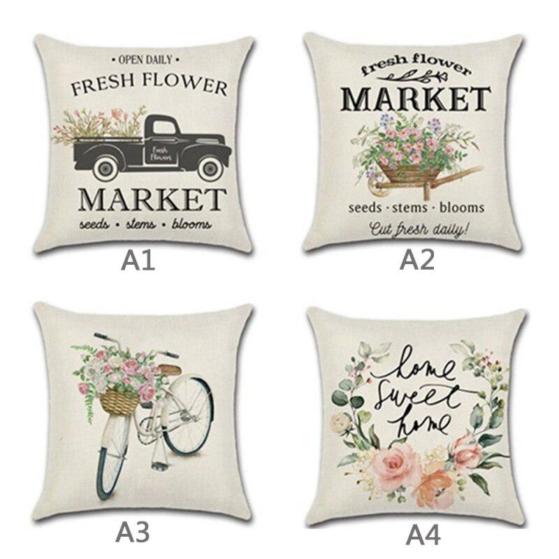 18x18 inch easter pillow covers for home decor spring elements truck decor easter throw pillows decorative cushion pillowcases buy at a low prices