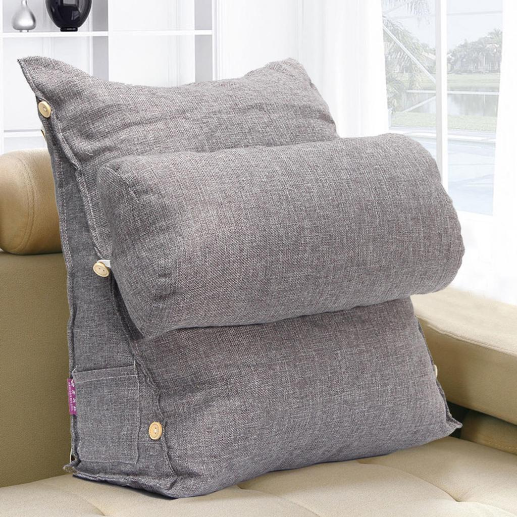 cotton adjustable sofa bed pillow chair seat rest neck support back wedge cushion fip cervical pad
