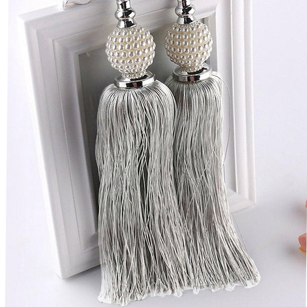 large curtain tie backs beaded ball tassel rope holdbacks home decor tieback
