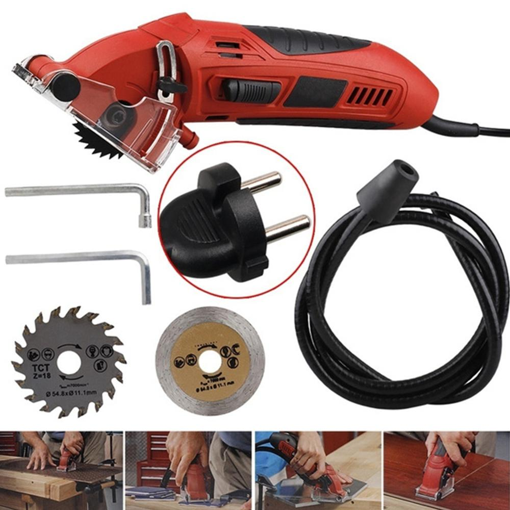 mini circular saw hychika compact circular saw tile saw with 3 saw blades 4a pure copper motor buy at a low prices on joom e commerce platform