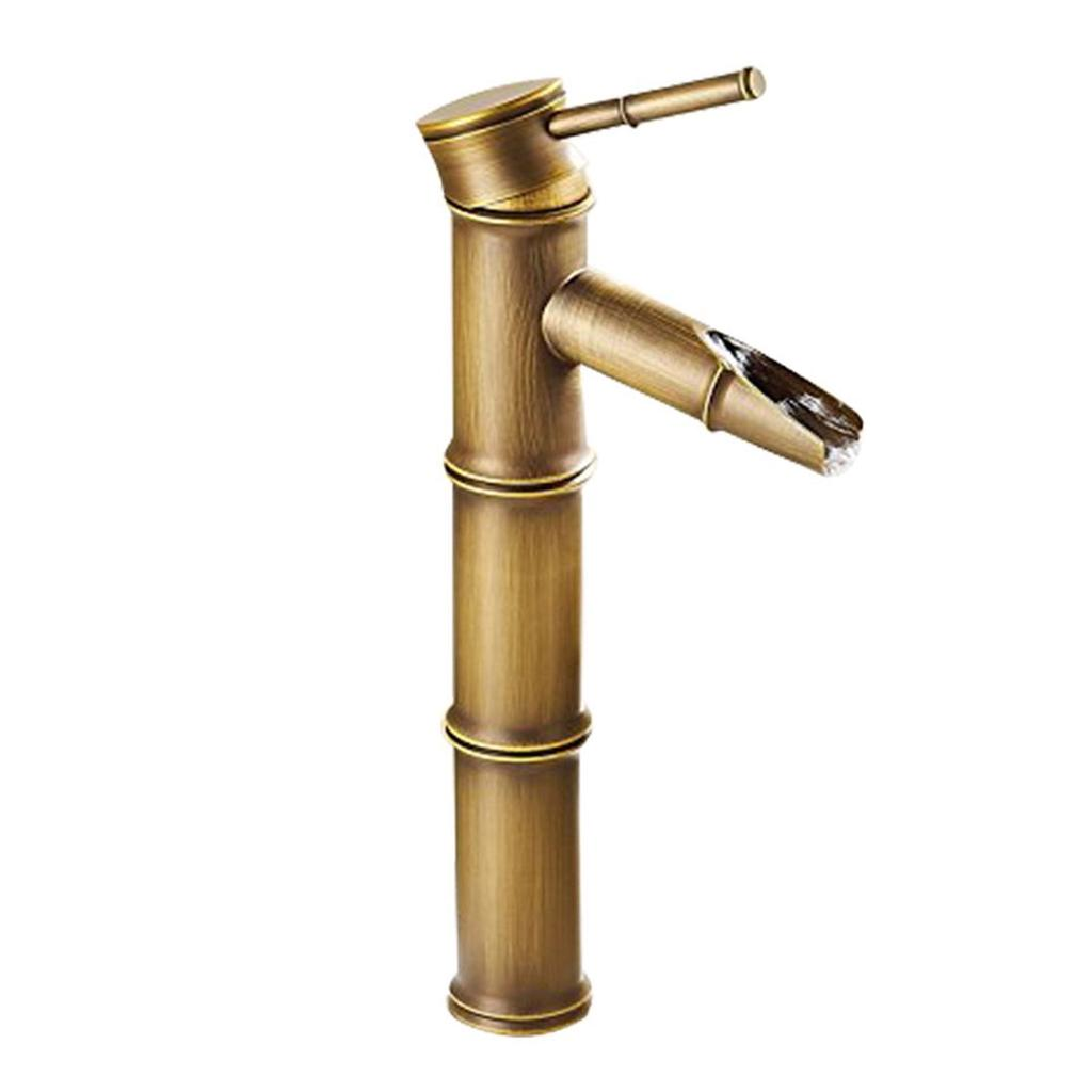 tall bamboo bathroom faucet brass antique basin faucets tap hot cold water kitchen outdoor faucet