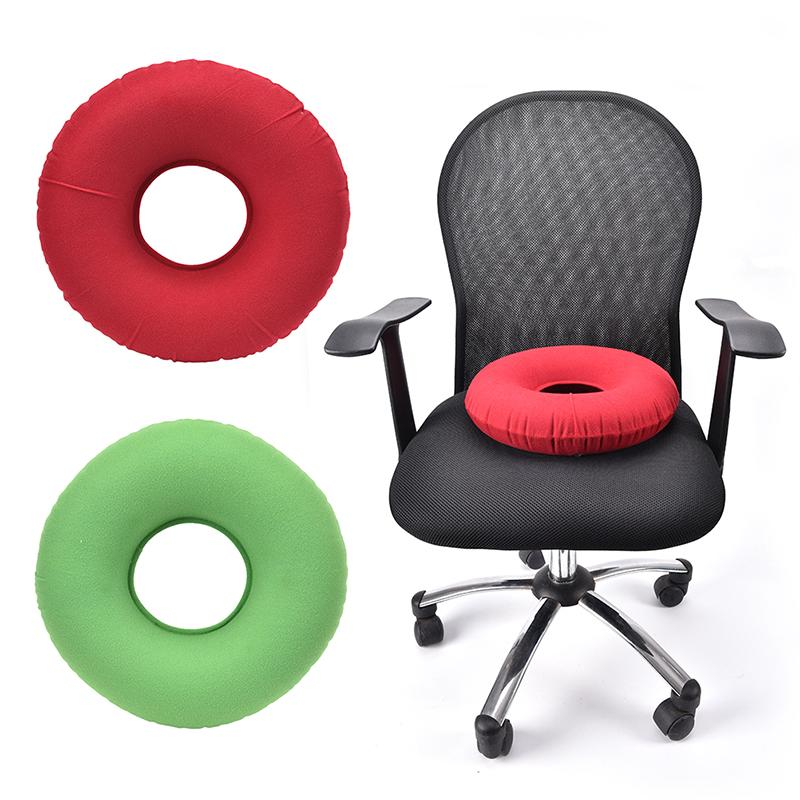 inflatable rubber ring round seat cushion medical hemorrhoid pillow donut pump
