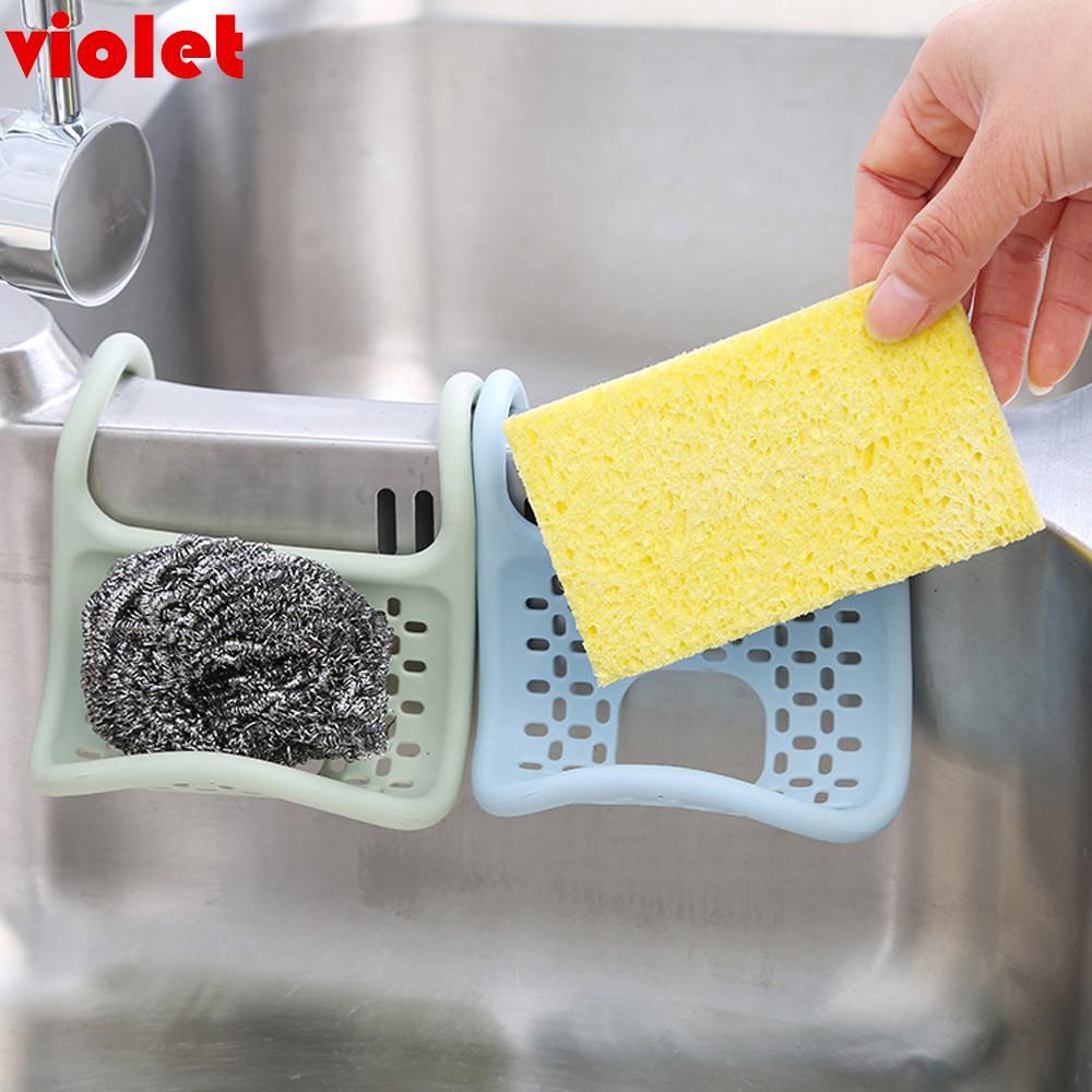 foldable sponge sink rack dish drying holder drainer kitchen bathroom storage box
