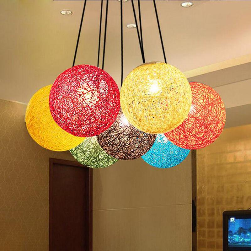 round rattan wicker ball ceiling light pendant lamp shade for bar no bulb buy at a low prices on joom e commerce platform