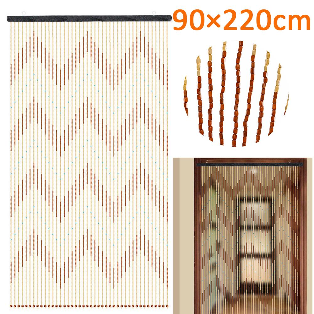 90x220cm 31 line retro bamboo wooden bead string door curtain blinds porch bedroom bathroom decor buy at a low prices on joom e commerce platform