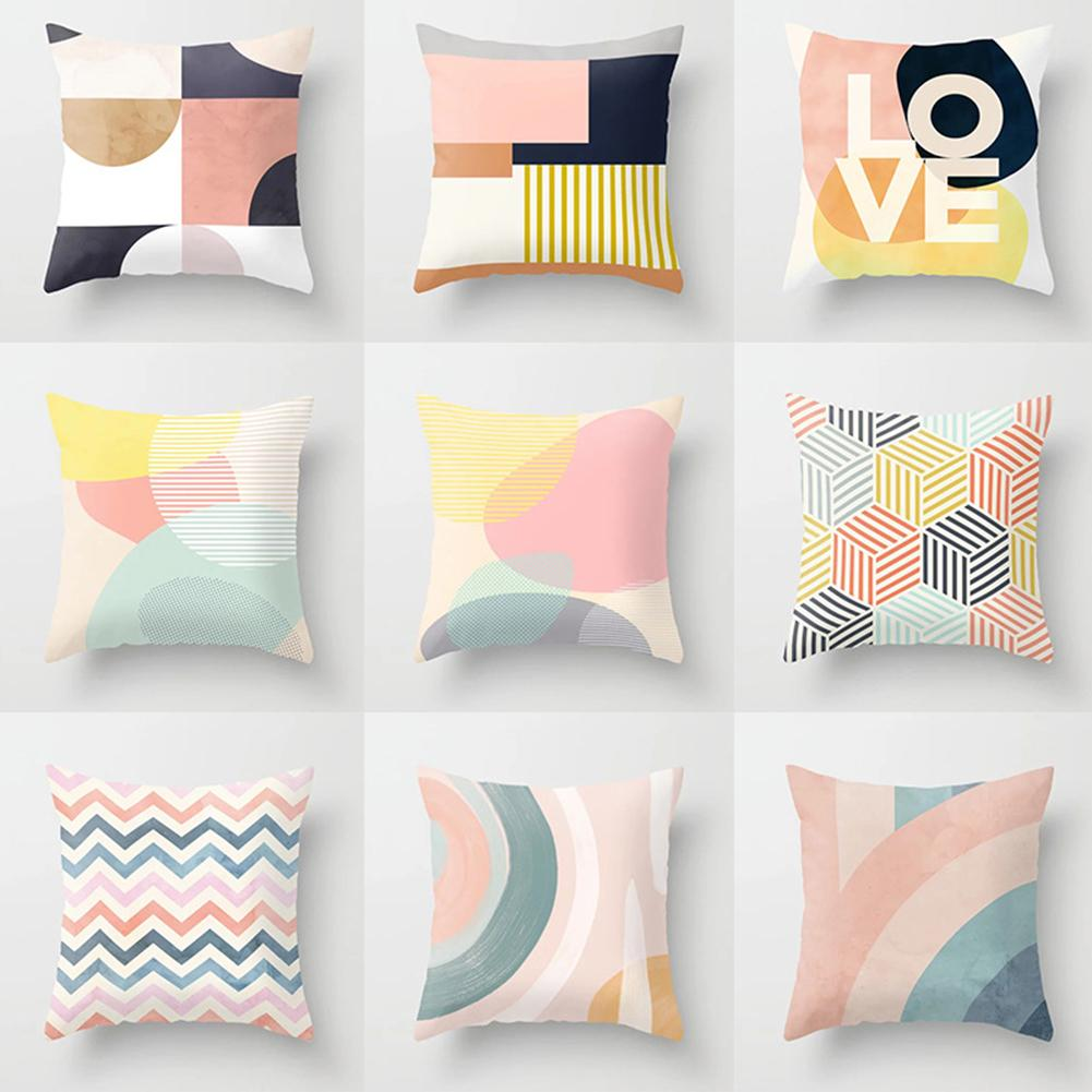abstract art geometric wasit cushion covers throw pillow cases home decor square