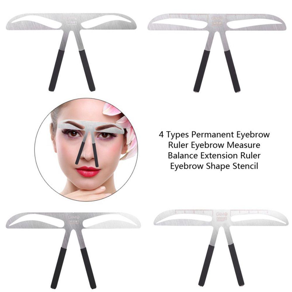 Eyebrow Ruler Kit Permanent Three Point Positioning Balance Extension Eyebrow Shaping Stencils Template