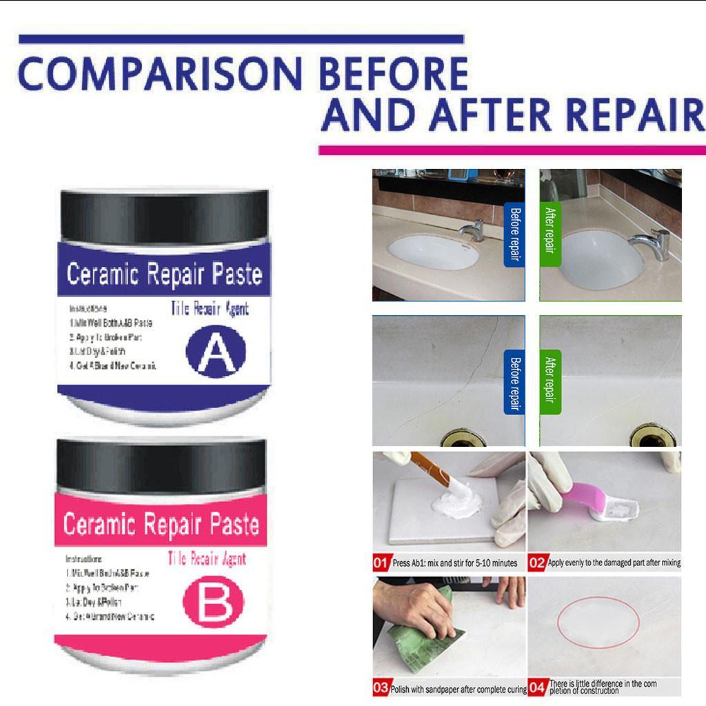 tile repair agent ceramic paste tile glue strong adhesive toilet glaze repair home floor tiles