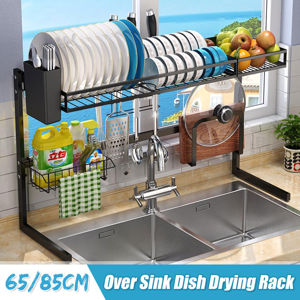 dish drying over sink storage rack 2 tier holder stainless steel plate bowl kitchen utensils organized organization buy at a low prices on joom