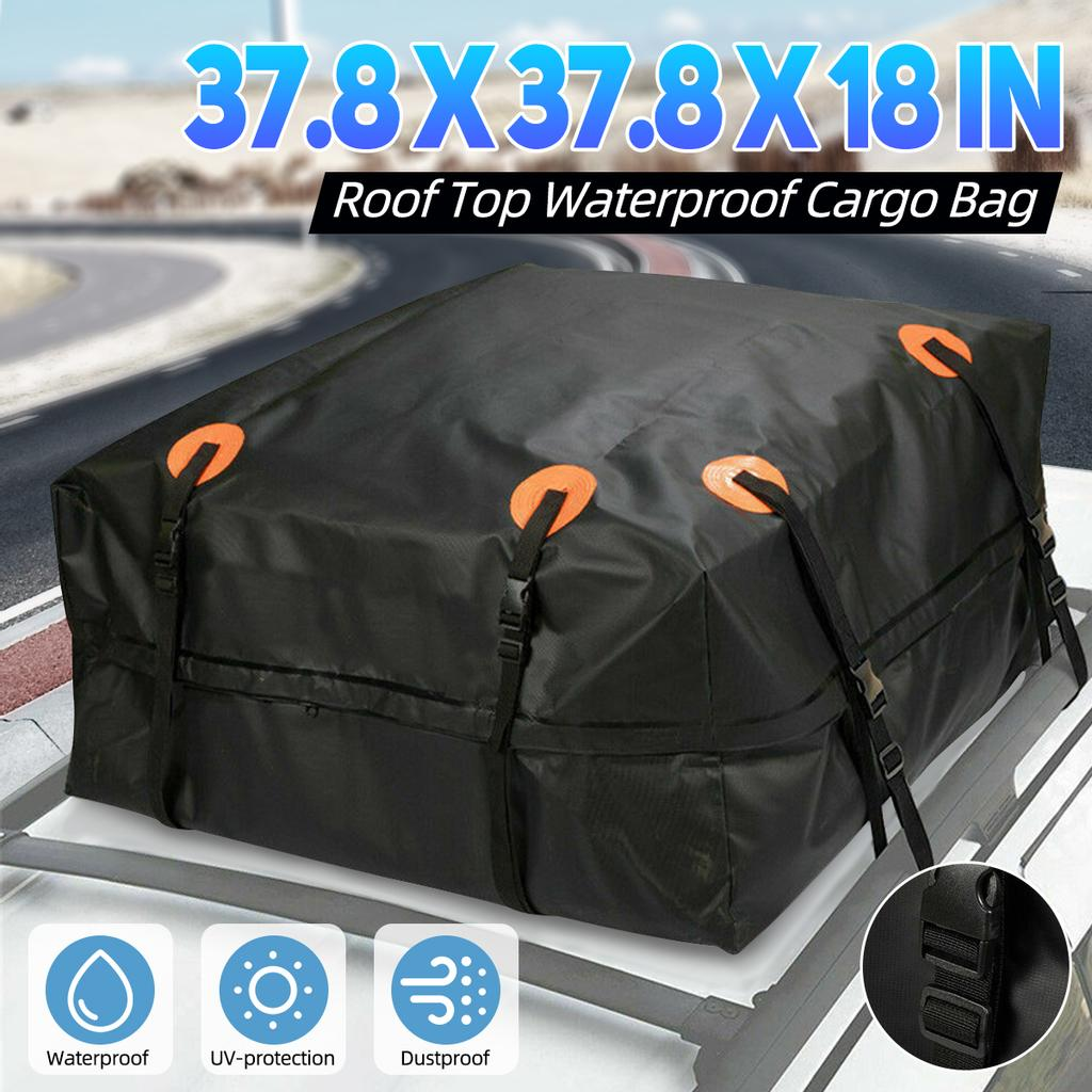 96 96 46cm car roof top bag roof rack cargo carrier luggage storage rooftop cube bag travel waterproof suv for cars