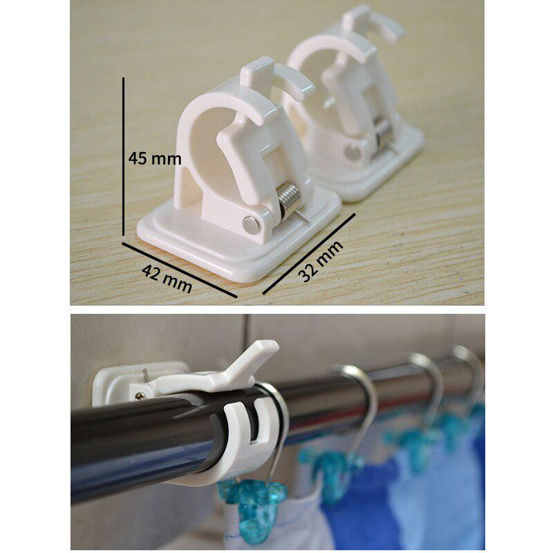 hanging rod end hanging clips adhesive wall hanging curtain hanging rod clip hook suction box packaging two buy at a low prices on joom e commerce