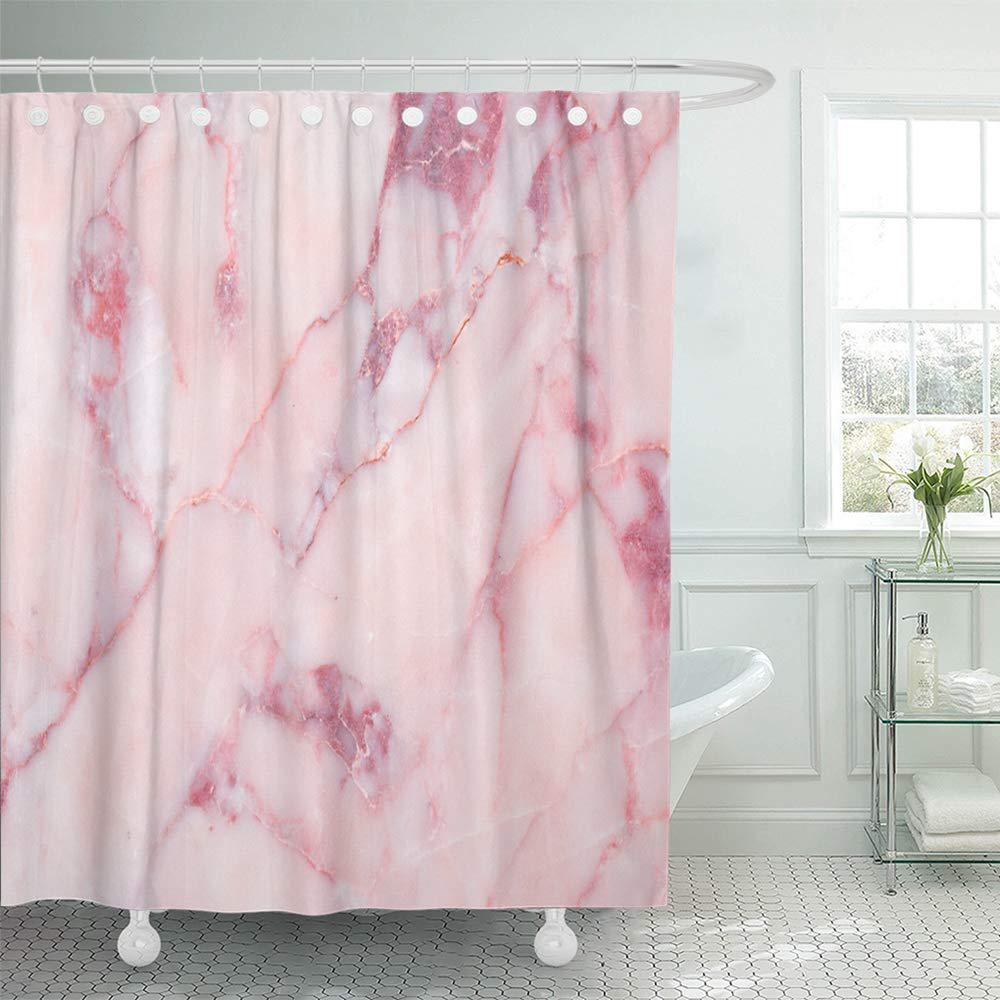 brown pastel pink marble red stone abstract ancient antique architecture black bath shower curtain 66x72inch 165x180cm