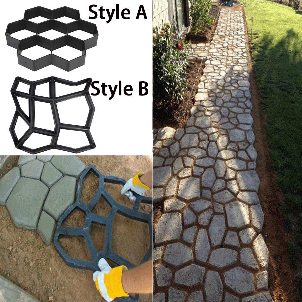 diy path maker mold manually paving cement brick molds