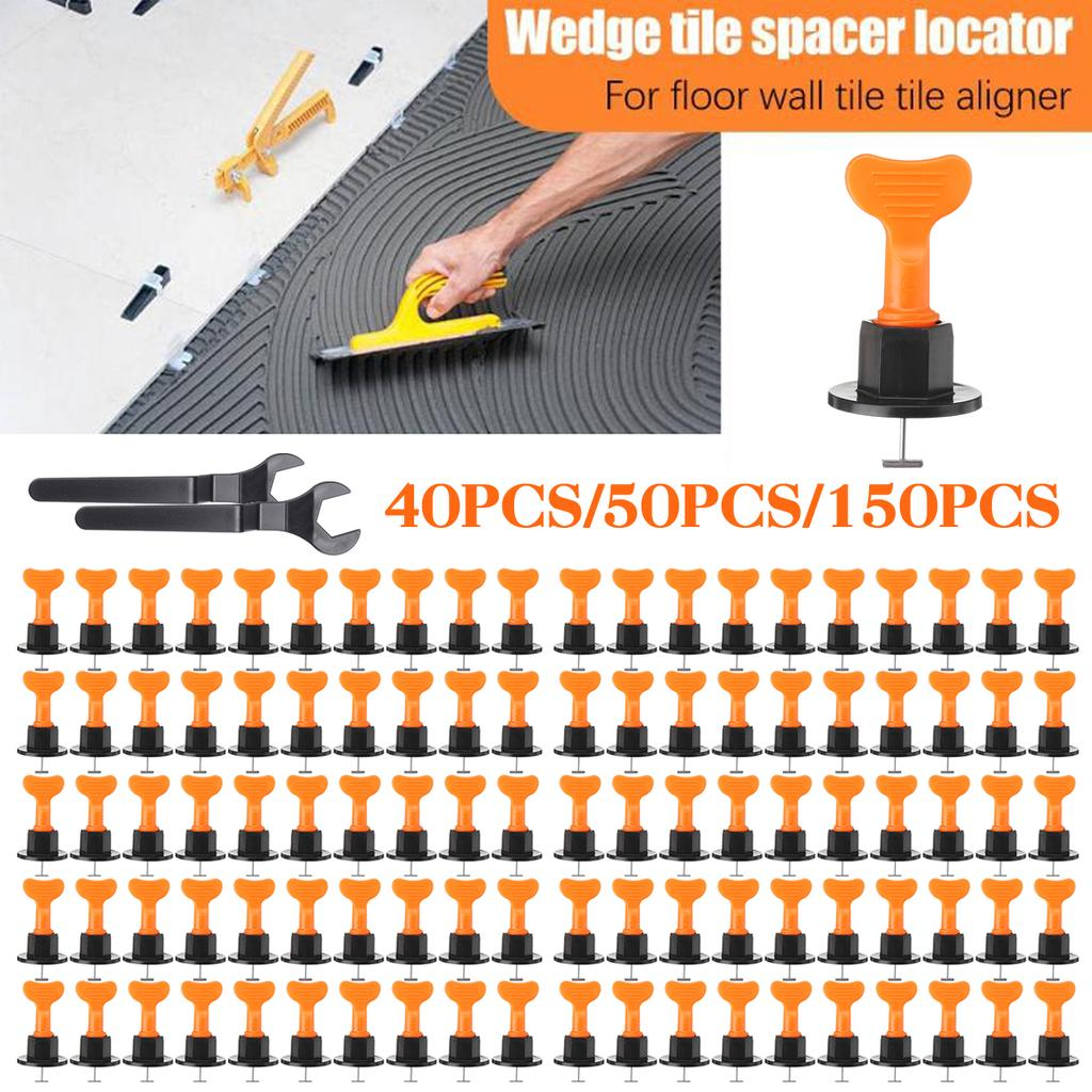 50 100pcs t type mini tile alignment tile leveling system locator spacers level wedges with wrench toolkit for leveler plier flooring wall carrelage