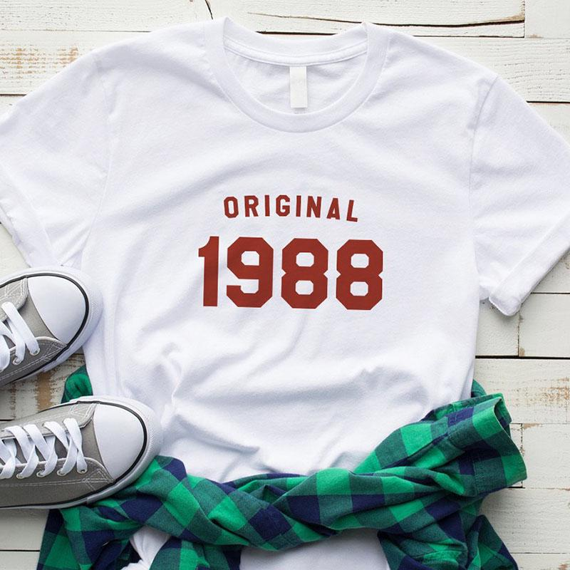 Buy Birthday Shirt Tshirt Graphic Tee For Women 30th Birthday Gifts For Her 1988 Birthday Shirt T Shirt At Affordable Prices Free Shipping Real Reviews With Photos Joom