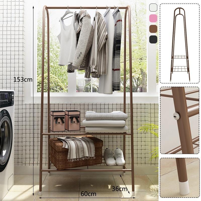 coat rack floor standing clothes hanging storage shelf hanger racks metal iron bedroom furniture